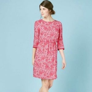 Boden Red White Paisley Dolly Day Dress Size 10L